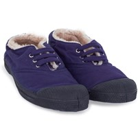 Bensimon Purple Faux Fur Plimsolls Purple