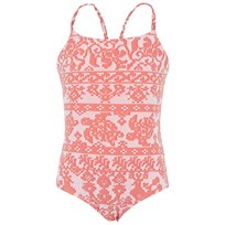 Vilebrequin Coral Turtle Print Swimsuit Pink