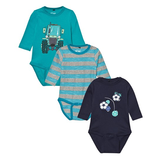 Me Too Kani 224 3-Pack Baby Body Caribbean Sea Caribbean Sea