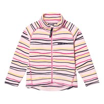 Didriksons Monte Kids Printed Fleece Jacket Pink Billo Pink Billo