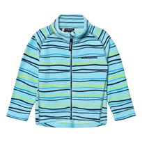 Didriksons Monte Kids Printed Fleece Jacket Blue Billo Blue Billo