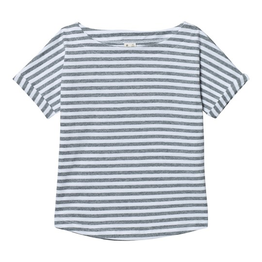 Gray Label Summer Wide Neck Tee Grey Melange/White Stripes Grey Melange/White Stripe