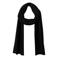 Gray Label Summer Raw Edge Scarf Nearly Black Nearly Black