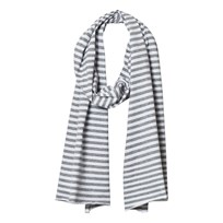Gray Label Summer Raw Edge Scarf Grey Melange/White Stripes Grey Melange/White Stripe