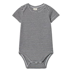 Image of Gray Label Baby Body Nearly Black/Off White Stripes 3-6 mdr (2950170315)