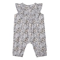 The Little Tailor Blue Floral Frill Romper BLUE FLORAL