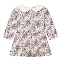 The Little Tailor Floral Jersey Dress with Collar Floral