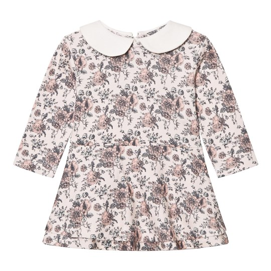 The Little Tailor Floral Jersey Klänning med Collar Floral