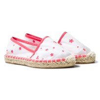 Sunuva White and Pink Pop Star Espadrilles White/Pink