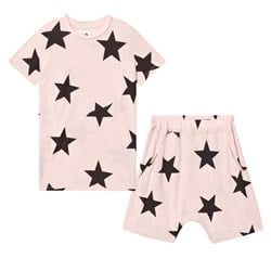NUNUNU Short Star Loungewear Powder Pink