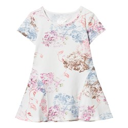 Guess White Floral Jersey Dress