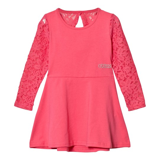 Guess Lace Sleeve Klänning Coral A434