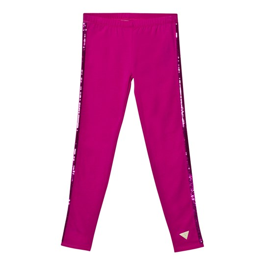 Guess Fuchsia Leggings Glitter Stripes A415