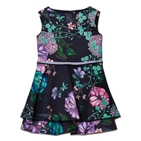 Young Versace Navy Ottoman Floral Dress 2581