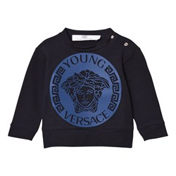Versace Navy and Blue Medusa Sweatshirt
