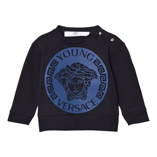 Versace Navy and Blue Medusa Sweatshirt 2714