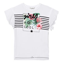 Guess White Floral Tee Sequin A000