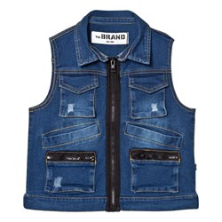 The BRAND Hunter Vest Stonewashed Blue