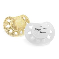 Elodie Details Pacifier Newborn Happiness Is Born Vit/guld