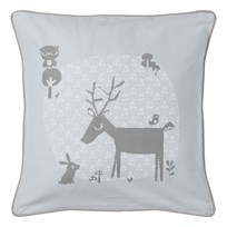 Vinter & Bloom Forest Friends Cushion Cover Bluebell Bluebell