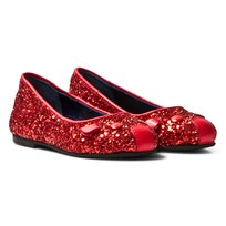 Little Marc Jacobs Red Glitter Mouse Pumps 97S