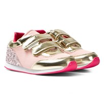 Mayoral Glitter, Mesh and Patent Trainers Rosa/Guld 55
