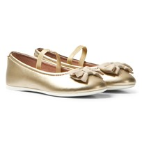 Mayoral Gold Bow Detail Pumps with Strap 11