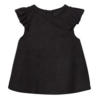 The BRAND Suede Top Black Black