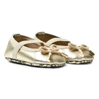 Michael Kors Gold Zia Baby Cari Ballet Pumps Gold