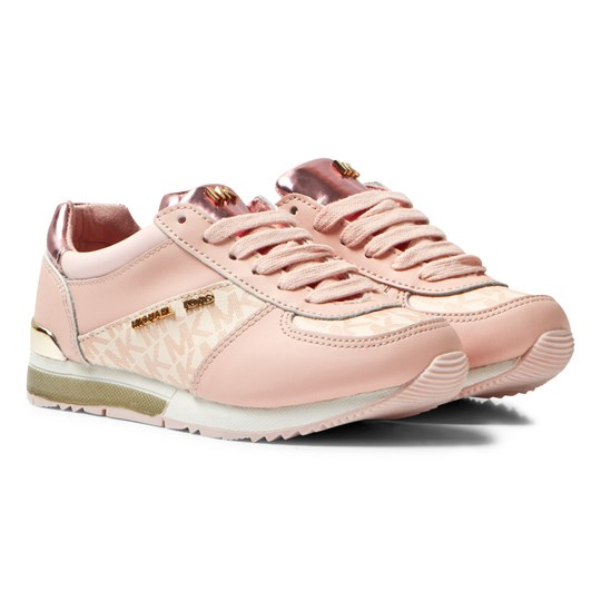 Michael Kors Pink Zia Allie Wrap Lace Up Trainers Pink