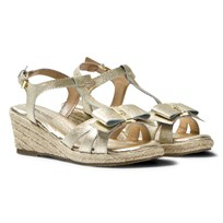 Michael Kors Gold Zia Cate Alexa Wedge Sandals Gold