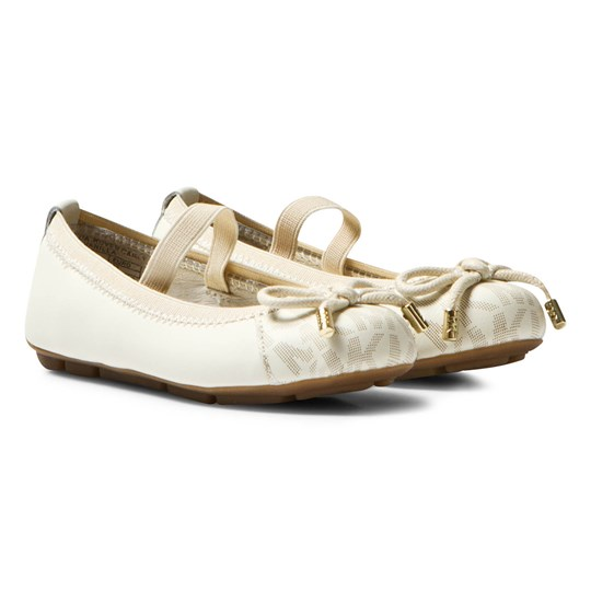 Michael Kors White Zia Rover Cari Infants Ballet Pumps White