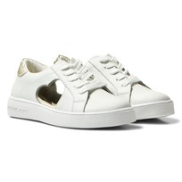Michael Kors White and Gold Zia Ivy Heart Trainers White