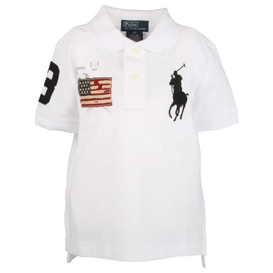 Ralph Lauren SS Big PP Polo Shirt White White