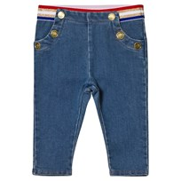 Little Marc Jacobs Blue Soft Jeans with Stripe Waistband Z02