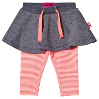 Me Too Kin 259 Skirt With Leggings Bright Coral Bright Coral