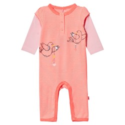 Me Too Kin 261 Baby One-Piece Bright Coral