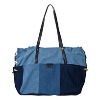 Chloé Blue Denim Patchwork Changing Bag and Mat Z10