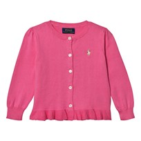 Ralph Lauren Ruffled Cotton Cardigan Bright Rose 001