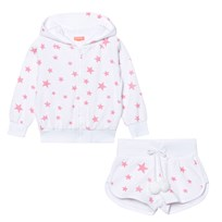 Sunuva White and Pink Pop Star Towelling Set WHITE/BABY PINK