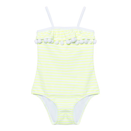 Sunuva Neon Yellow Pompom Swimsuit Neon Yellow