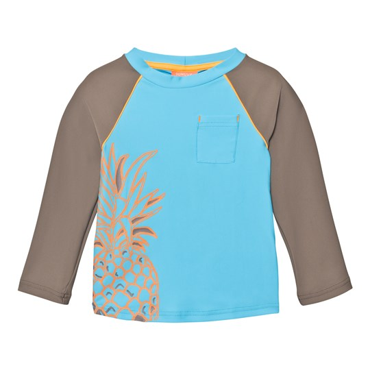 Sunuva Beach Pineapple Rash Vest Blue