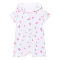 Sunuva Infants White and Pink Pop Star Towelling Onesie White