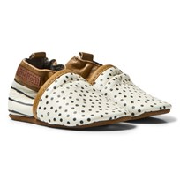 Melton Leather Crib Shoes Cafe Au Lait Cafe au lait