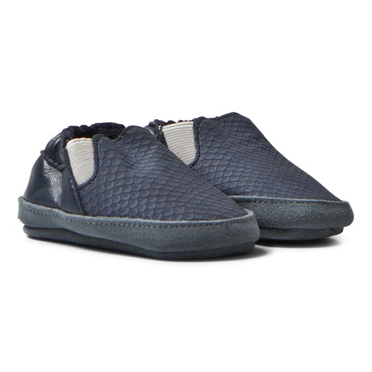 Melton Slip-On Soft Sole Crib Shoes Marine Marine