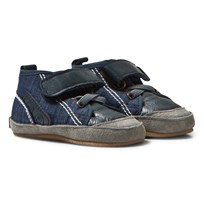 Melton High Top Crib Shoes Marine Marine