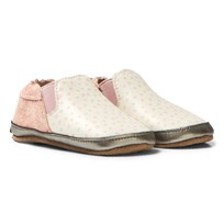 Melton Slip-On Soft Sole Crib Shoes Off White Valkoinen