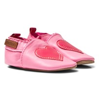 Melton Hearth Leather Crib Shoes Soft Cerise Soft cerise