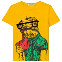 Billybandit Yellow Watermelon Lizard Print Tee 568