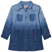 Levis Kids Mid and Light Wash Dip Dyed Denim Dress 46